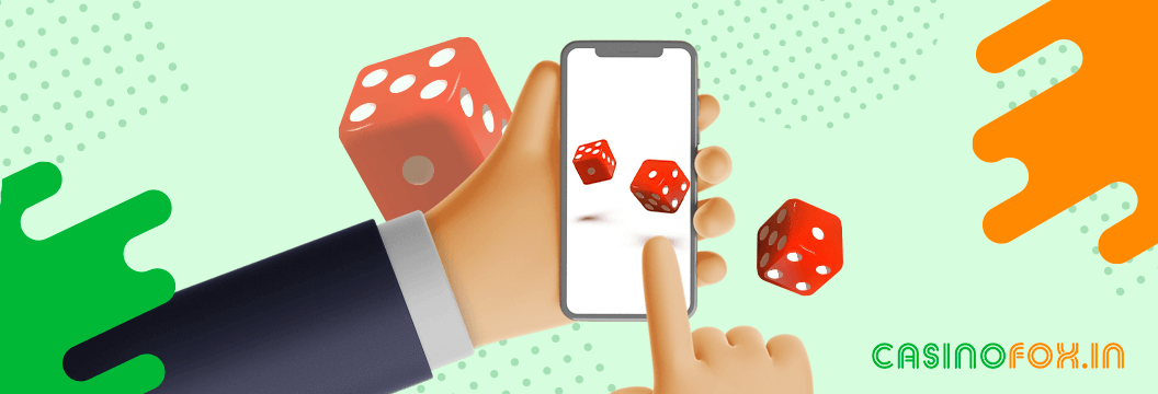 playing online casino on phone