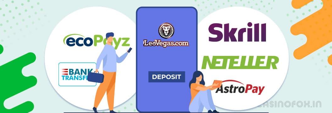 leovegas india deposit methods