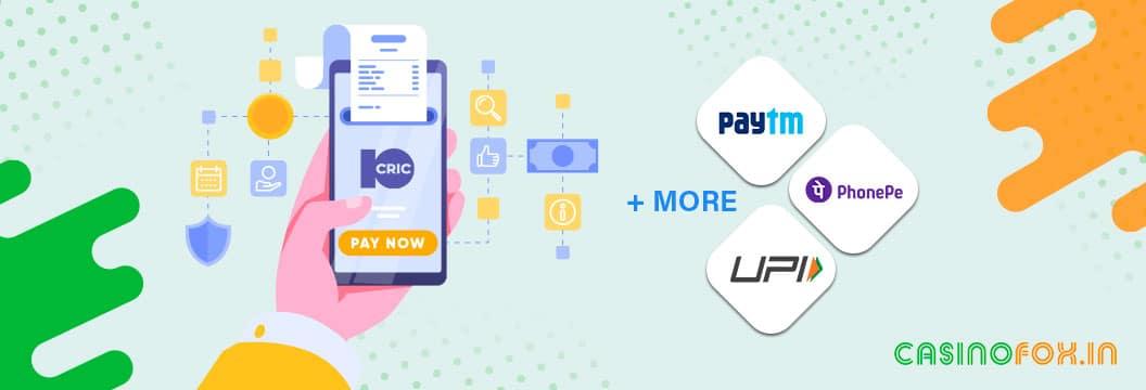 10cric casino payment methods