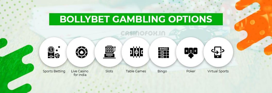 bollybet casino gambling option