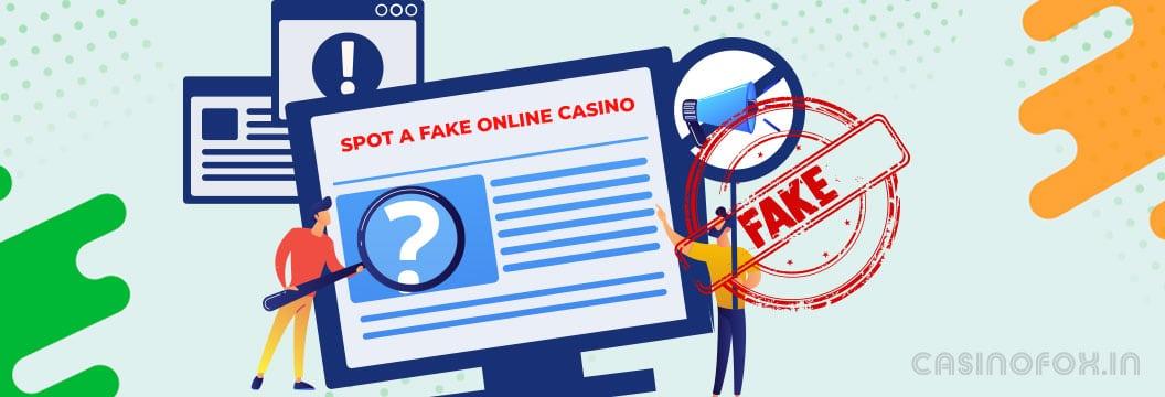 fake online casino