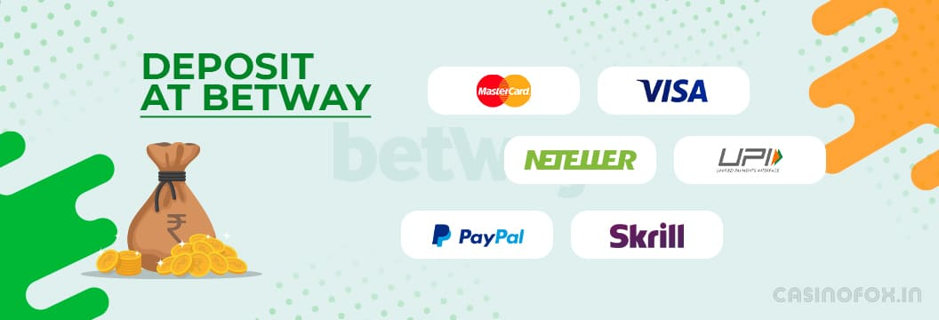 betway deposit methods paytm phonepe upi